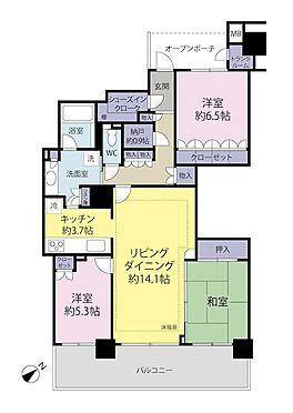 中古マンション-稲城市若葉台2丁目 3LDK+シューズインクローゼット:専有面積89.01m2