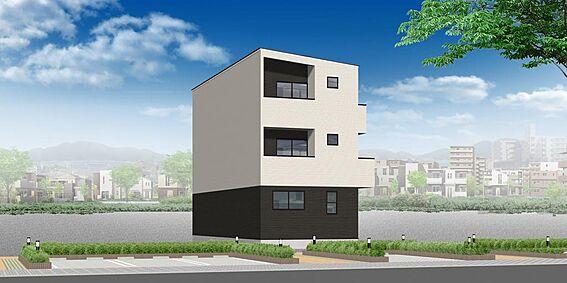 アパート-名古屋市西区花の木3丁目 外観パース 配色等、変更になる可能性もございます