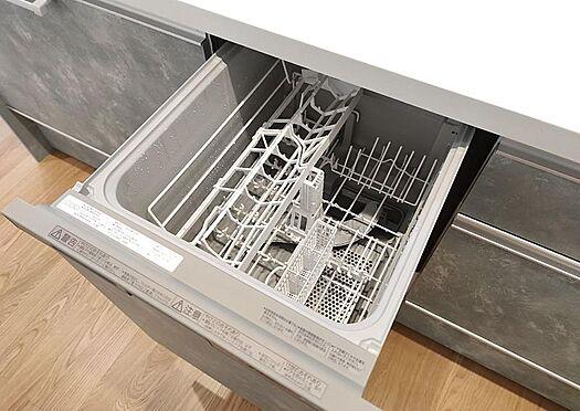 中古マンション-名古屋市守山区西城2丁目 便利な食洗器付きのキッチン。