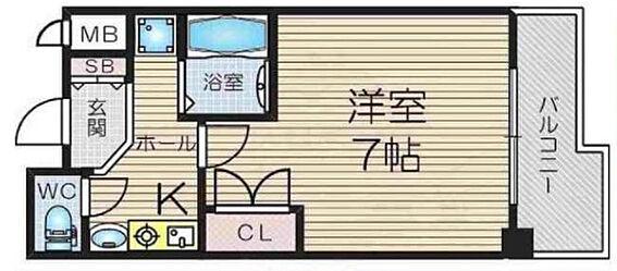 マンション(建物一部)-大阪市北区天満橋1丁目 間取り