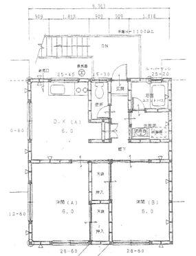 住宅付店舗(建物全部)-山武市埴谷 2階部分 図面と現況が異なる場合は現況優先とします。