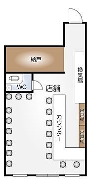 店舗(建物一部)-名古屋市中川区尾頭橋3丁目 間取り