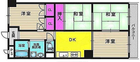 マンション(建物一部)-京都市南区吉祥院石原長田町 南向きバルコニーで日当り眺望・通風良好