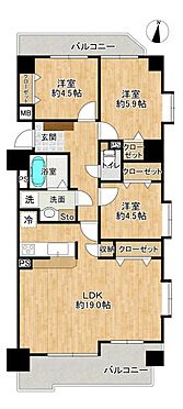 中古マンション-名古屋市守山区西城2丁目 収納が充実したお部屋