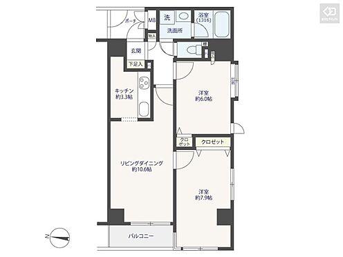 マンション(建物一部)-台東区入谷2丁目 間取り