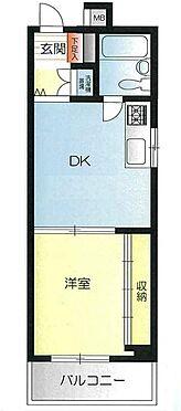 マンション(建物一部)-大阪市中央区北新町 壁一面の収納はひとり暮らしにぴったりです。