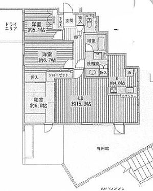 マンション(建物一部)-横浜市緑区三保町 間取り