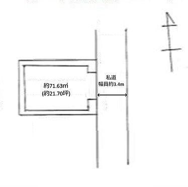 土地-練馬区田柄1丁目 区画図