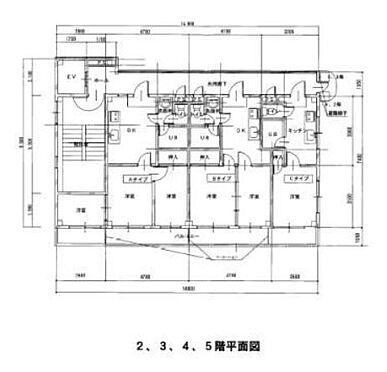 マンション(建物全部)-本庄市銀座2丁目 2-5階 平面図