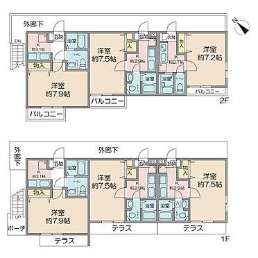 アパート-中野区若宮2丁目 平成16年1月築 旭化成ホームズ施工・1K×6部屋・全室賃貸中(2019年7月12日現在)