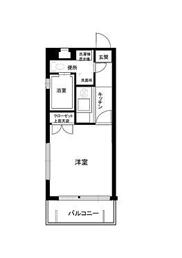マンション(建物一部)-福岡市中央区平尾3丁目  1Kタイプ角部屋です。