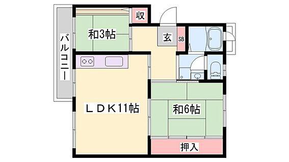 マンション(建物一部)-加古郡稲美町中村 間取り