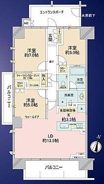 中古マンション-藤沢市湘南台1丁目 間取り