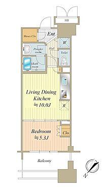 中古マンション-中央区晴海5丁目 8階・北西向きのため眺望良好です。