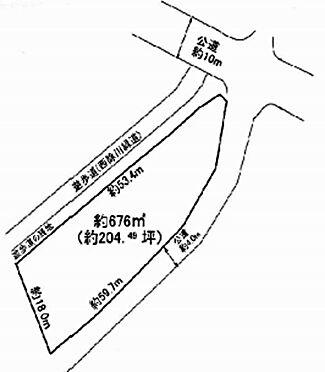 土地-堺市美原区今井 区画図