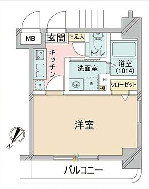マンション(建物一部)-横浜市西区高島2丁目 間取り
