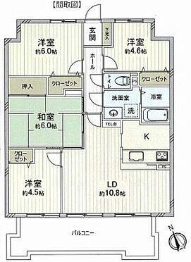 中古マンション-名古屋市緑区鳴海町字山下 間取図