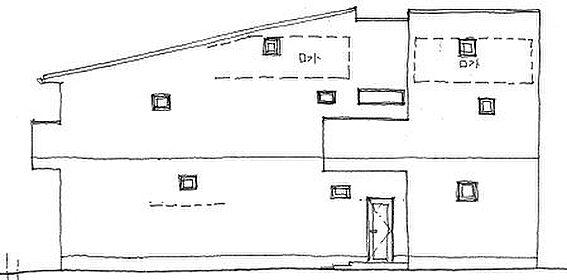 アパート-名古屋市北区水切町2丁目 南立面図