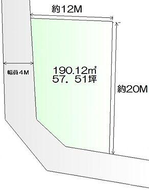 土地-仙台市青葉区下愛子字二本松 区画図