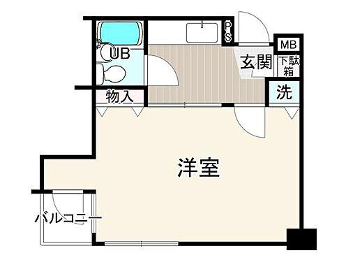 マンション(建物一部)-京都市中京区西洞院通四条上る蟷螂山町 間取り