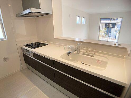 新築一戸建て-東海市名和町新屋敷 作業スペースが広くとれるキッチン(写真は3号棟仕様です)