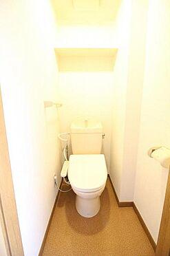 アパート-水戸市住吉町 くつろげる広さのトイレです
