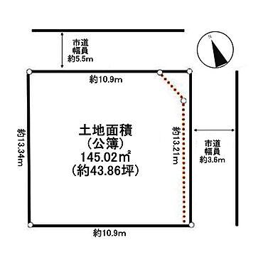 土地-武蔵野市中町3丁目 区画図