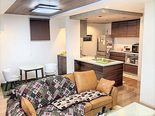 戸建賃貸-江南市高屋町十六田 開放感のある広々としたLDK。