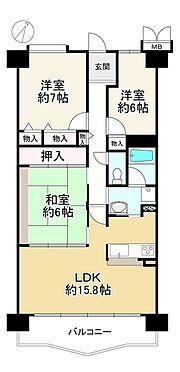 中古マンション-神戸市北区大原1丁目 間取り