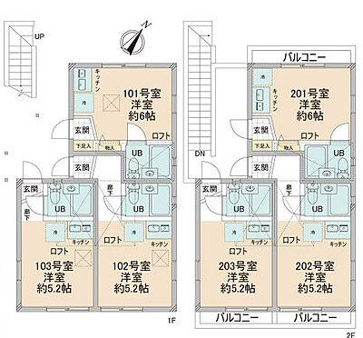 アパート-横浜市神奈川区栗田谷 間取り