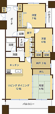マンション(建物一部)-水戸市元吉田町 間取り