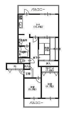 マンション(建物一部)-神戸市北区山田町小部字南山 家事動線に配慮した間取り