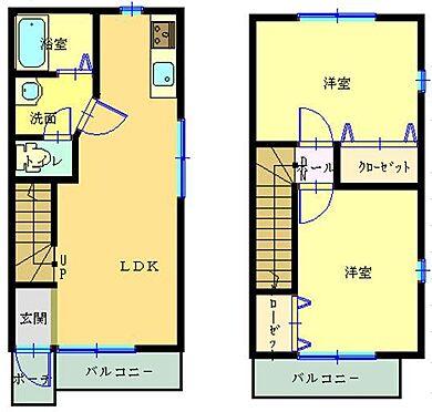 アパート-静岡市葵区上足洗2丁目 間取り
