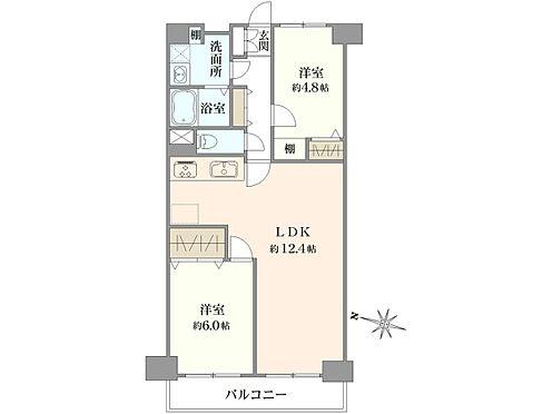 中古マンション-横浜市神奈川区大口通 間取り