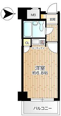 マンション(建物一部)-大阪市西淀川区野里1丁目 水まわりの動線をコンパクトにまとめた使い勝手の良いプラン
