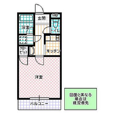 アパート-水戸市新荘2丁目 間取り