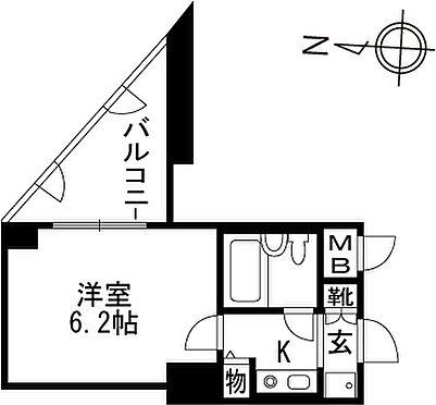 区分マンション-京都市伏見区向島本丸町 間取り