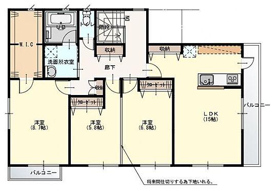 アパート-春日部市千間1丁目 2階間取り図
