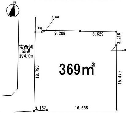 土地-川越市大字下広谷 区画図