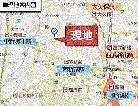 事務所(建物一部)-新宿区北新宿1丁目 地図