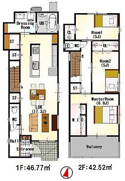 新築一戸建て-福岡市南区西長住3丁目 わたし好みの住宅で快適な生活を。壁や床の色味が違うだけでお部屋の印象をガラリと変えることが出来ます。