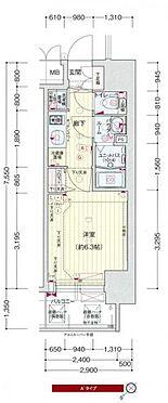 マンション(建物一部)-大阪市西区九条南2丁目 間取り