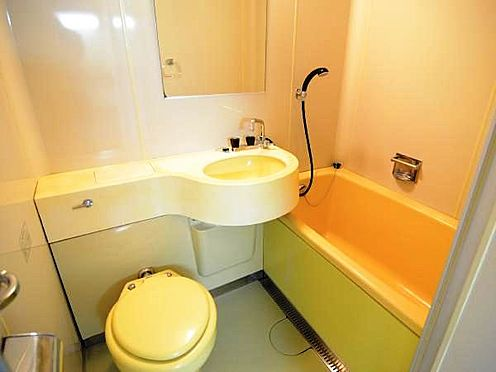 中古マンション-熱海市上多賀 ユニットバス。同マンションには温泉大浴場があります。