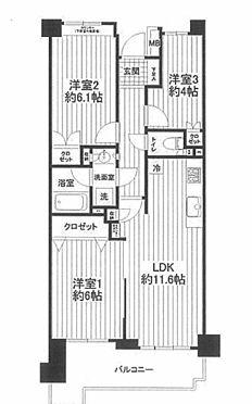 マンション(建物一部)-横浜市港南区日野3丁目 間取り
