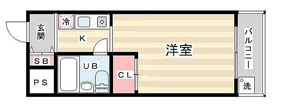 マンション(建物一部)-京都市右京区西院西高田町 収納を設けた単身者向けプラン