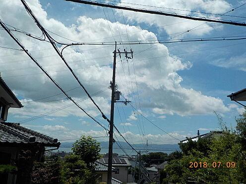 土地-大津市滋賀里3丁目 住戸2階から琵琶湖を望む2