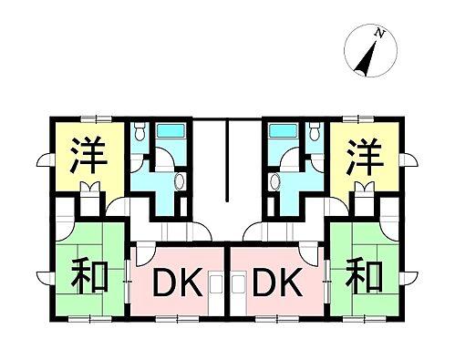 アパート-松本市梓川倭 間取り