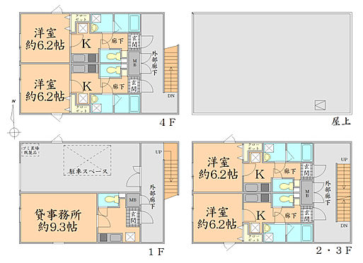 マンション(建物全部)-仙台市若林区新寺2丁目 間取り