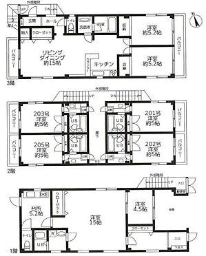 マンション(建物全部)-川崎市中原区上平間 間取り