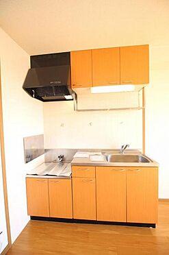 アパート-水戸市住吉町 収納豊富なキッチン